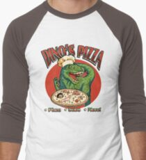 Dino's Pizza Men's Baseball ¾ T-Shirt