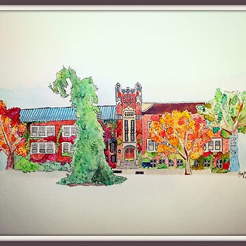 Sturges at SUNY Geneseo Watercolor by trebuck