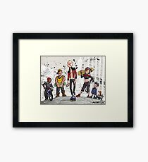 Captains of Congress Street Framed Print