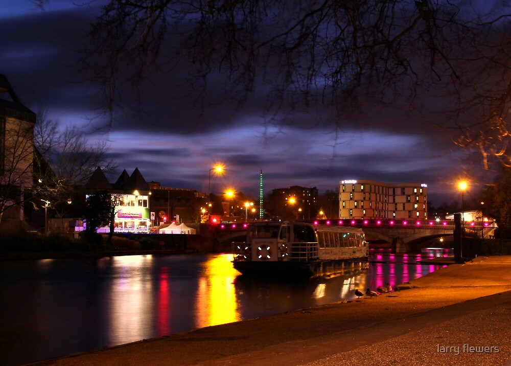 River Medway at Maidstone  by larry flewers