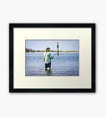 Knee Deep Fishing Framed Print