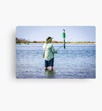 Knee Deep Fishing Canvas Print