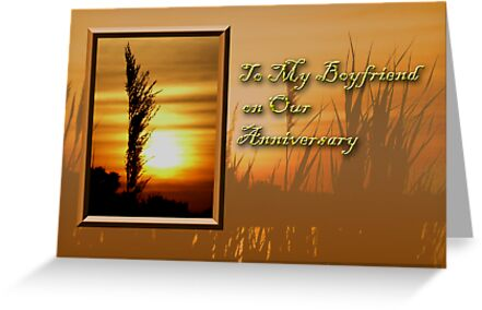 To My Boyfriend On Our Anniversary Sunset by jkartlife