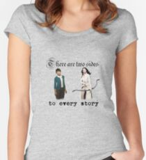 Snow White and Mary Margaret Blanchard Women's Fitted Scoop T-Shirt