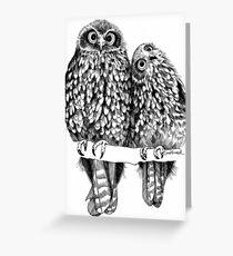 Morepork Owls Contemplate Life Greeting Card