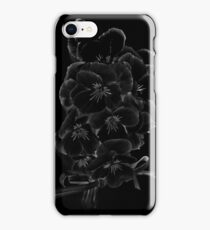 Midnite Pansies iPhone Case/Skin