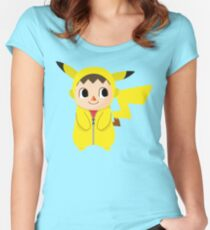 Villager Pika-Onesie Women's Fitted Scoop T-Shirt