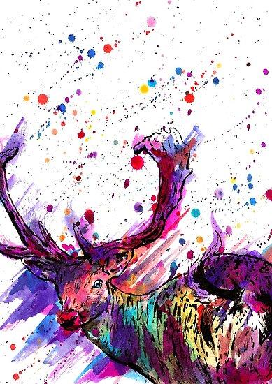 Deer by Calum Margetts Illustration