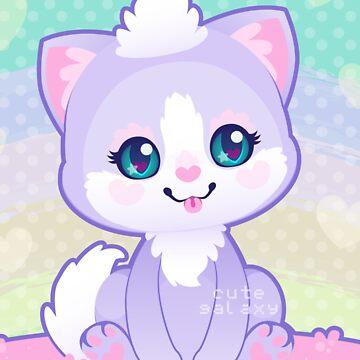 Purple Kitty by cutegalaxy