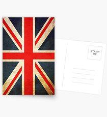 Grunge Effect Union Jack Postcards
