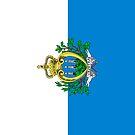 San Marino Flag by pjwuebker
