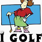 I Golf Women's by SportsT-Shirts