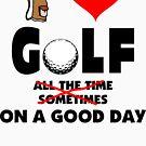 I Love Golf by SportsT-Shirts