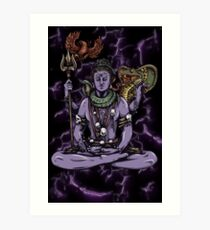Mythical Witch Doctor Art Print