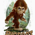Little Bigfoot Art for Toddlers by MudgeStudios