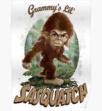 Grammy's Little Sasquatch Caricature Poster