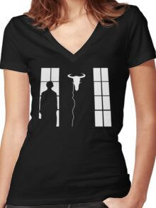 Bored silhouette Women's Fitted V-Neck T-Shirt