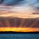 Sunset from Camano Island by Jim Stiles