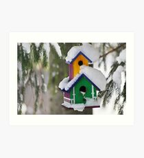 2-Storey Birdhouse...with all the trimmings :) Art Print
