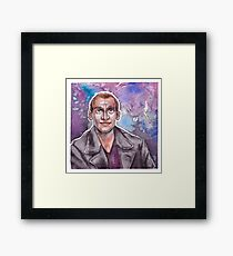 9th Doctor Watercolor Framed Print