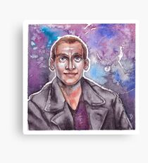 9th Doctor Watercolor Canvas Print