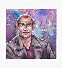 9th Doctor Watercolor Photographic Print