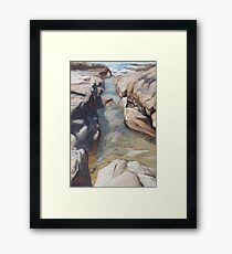 Into the shallows Framed Print