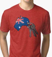 Keys to Australia  Tri-blend T-Shirt