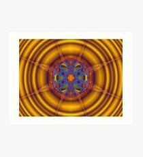 Mandelbulb Sun Art Print