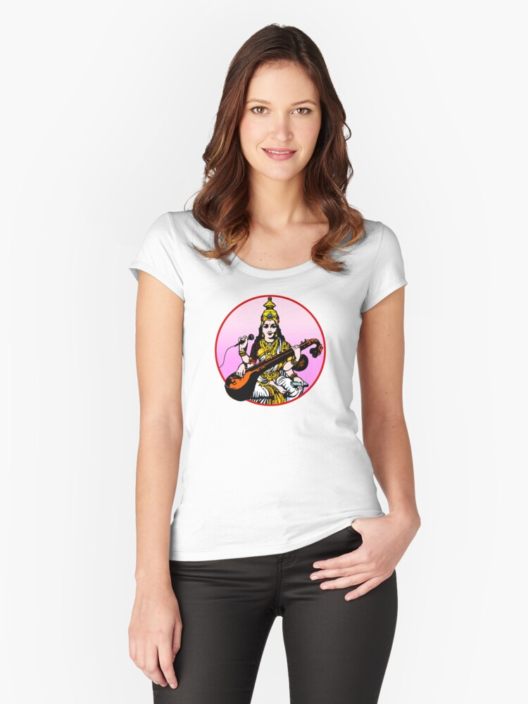 Sarasvati Now Women's Fitted Scoop T-Shirt Front