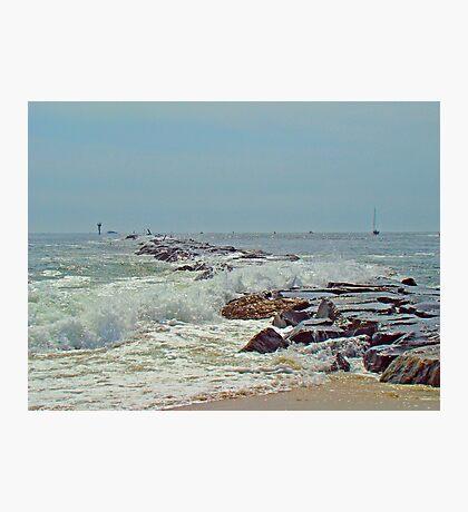 Jetty - Island Beach State Park NJ Photographic Print