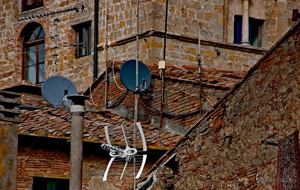 Dishes And Antennas by phil decocco