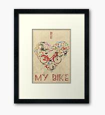 I Love My Bike Framed Print