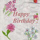 Happy Birthday Flowers by redqueenself