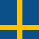 Sweden Flag by pjwuebker