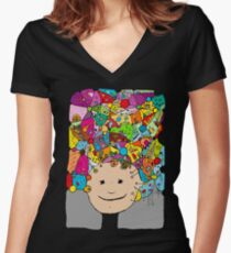 All in my head - cool variations of freams Women's Fitted V-Neck T-Shirt