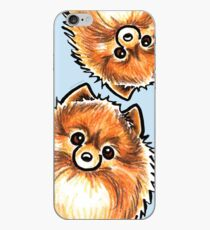 Red Pomeranian Paws Up iPhone Case
