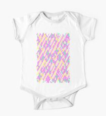 Geometric Lanes (Glam Pink/Yellow/Teal) Kids Clothes