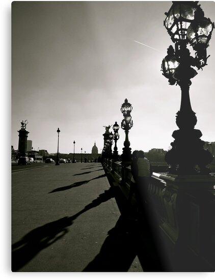 Paris bridge over the Seine b & w by graceloves