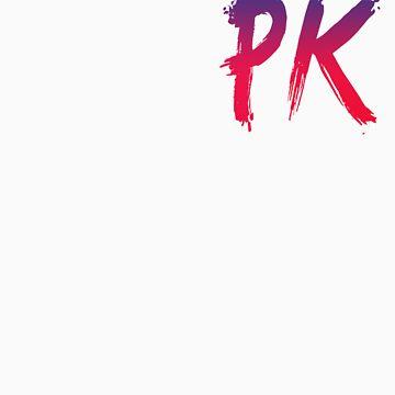 pink/blue pk logo by prawmking