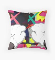 Kaws Paws Throw Pillow
