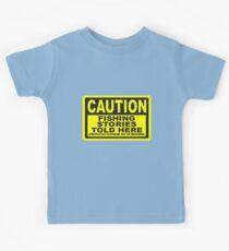 CAUTION FISHING T SHIRT Kids Tee