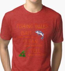 FISHING - RULES Tri-blend T-Shirt