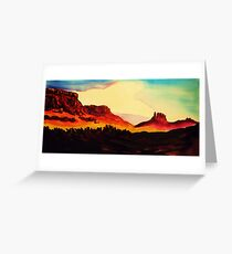 Following the Colorado River to Moab Greeting Card