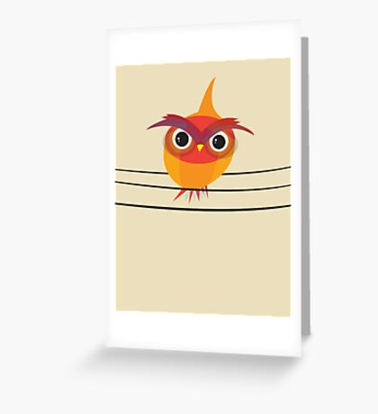 Owl on a Wire Greeting Card