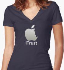iTrust Christian T-Shirt  Women's Fitted V-Neck T-Shirt