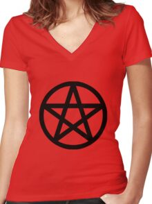 Pentacle Women's Fitted V-Neck T-Shirt