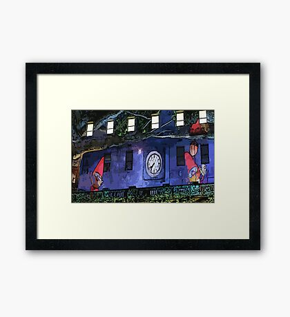 Gnomes in the Clocktower Framed Print