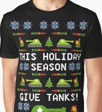 Ugly Christmas Sweater - This Holiday Season Give Tanks! Graphic T-Shirt