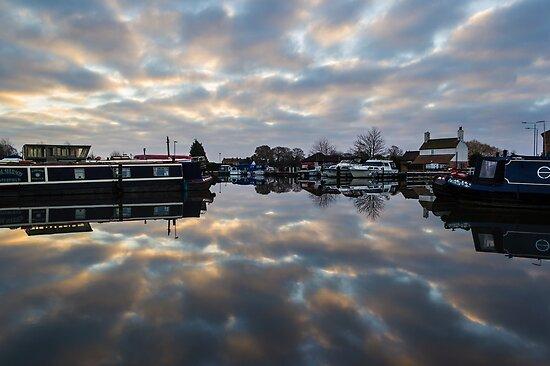 Dawn at West Stockwith by John Dunbar